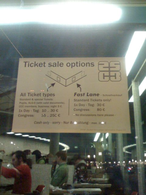 Ticket sale options