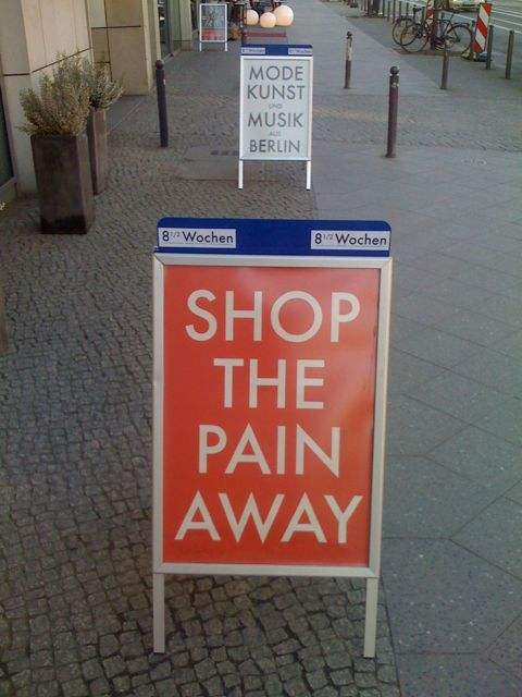 Shop the pain away