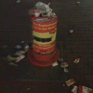 Der Müll ist in der Kriese