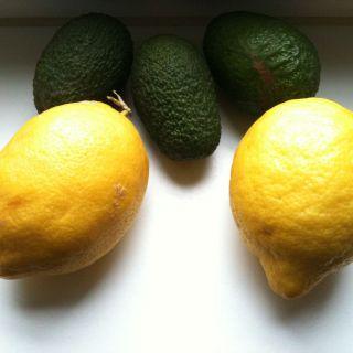 Zitronen und Avocados
