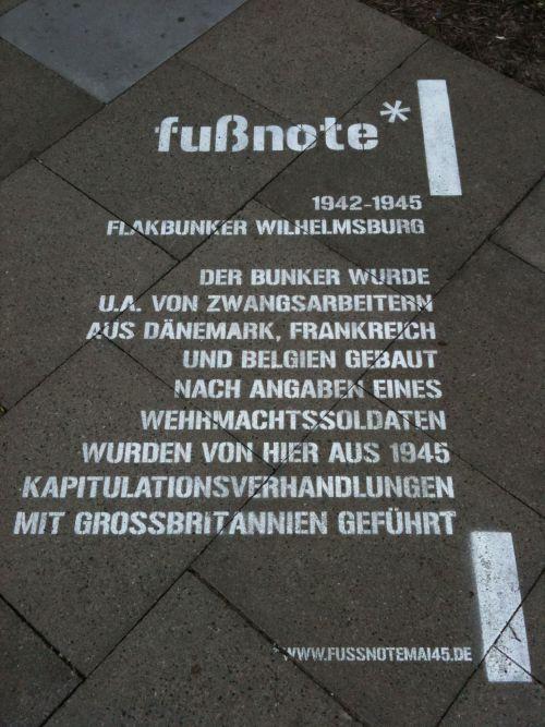Fußnote Flakbunker Wilhelmsburg