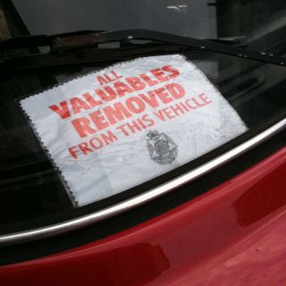 Valuables removed…