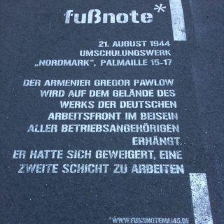 Fußnote Palmaille / Olbersweg