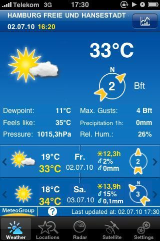 Zu warm… 33 Grad