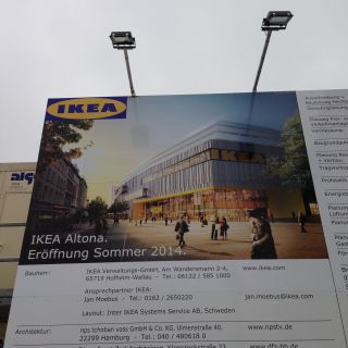 IKEA Altona. Eröffnung Sommer 2014