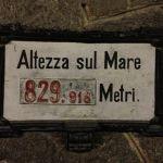 Altezza sul Mare 829,918