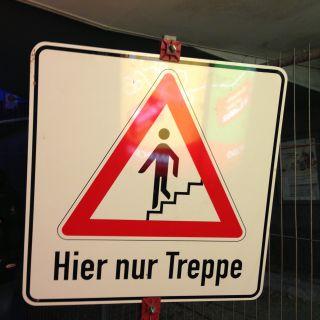 Hier nur Treppe