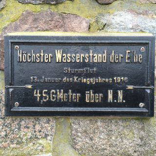 Höchster Wasserstand der Elbe 1916