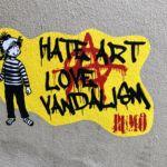Hate art love vandalism